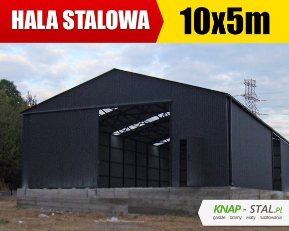 Garaż Blaszany Grafitowy 10x5m - hala , wiata , garaże blaszane ,