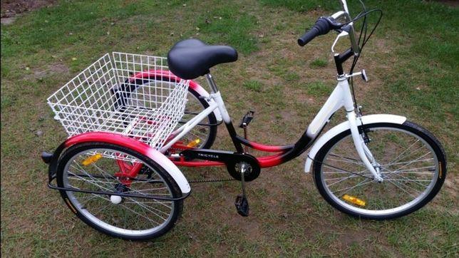 Rower 3-kołowy trójkołowy koła 24 'z przerzutkami Shimano NOWY