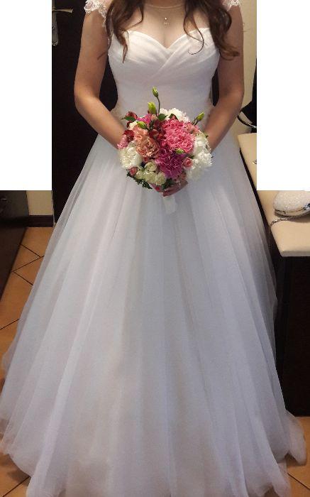 Suknia ślubna Agnes Bridal Dream, gratis: bolerko, halka, welon Jarocin - image 1