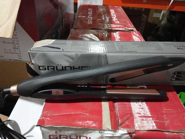 Утюжок для волос 25х100мм, GHS-718 (черный) (GRUNHELM)