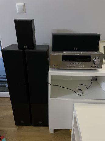 Kino domowe zestaw 5.1 Yamaha rx-v365 hdmi plus kolumny Prism