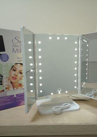 Зеркало для макияжа со светом на 22 светодиода