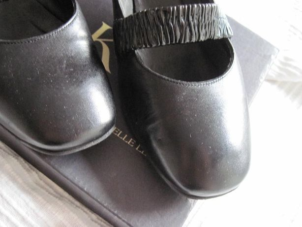 NOWE Czarne buty Ryłko rozmiar 38,5 na małym obcasie