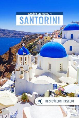 Lazurowe morze i biało-niebieskie domki i zjawiskowy krajobraz!