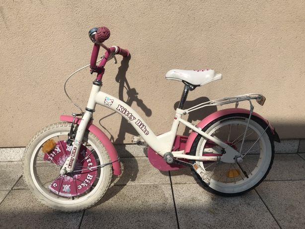 Śliczny rower dziecięcy Hello Kitty