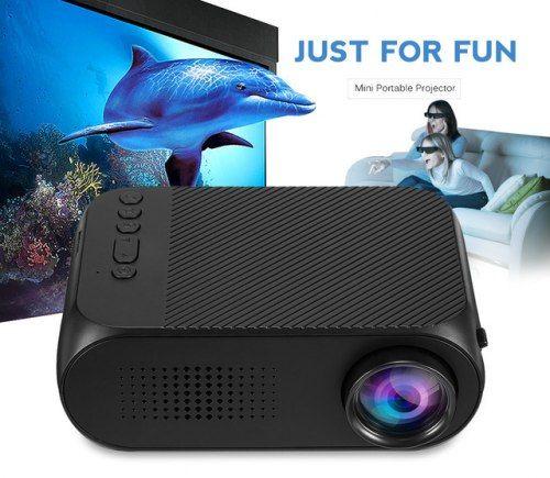 Мультимедийный портативный мини проектор Projector LED YG-320 Mini ХИТ