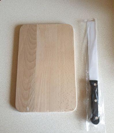 Deska drewniana z nożem - NOWE!!!