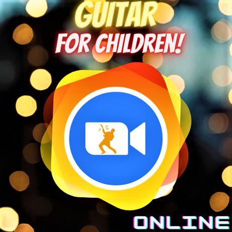 Уроки игры на гитаре для детей. Выгодная цена. Обучение с нуля. Онлайн