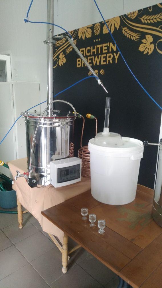 Дом. пивоварня з програмним керув., 40л.(гот.пива)/варка+ перегонка