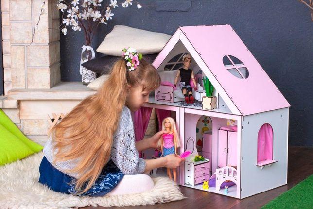 Очень крутой домик для кукол Барби, высота 68 см. Будинок для ляльок