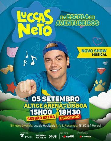 Luccas Neto e a Escola de Aventureiros Bilhete Altice Arena 5 Set