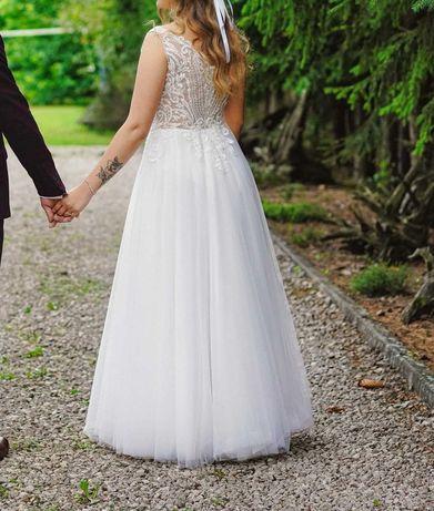Suknia ślubna, welon