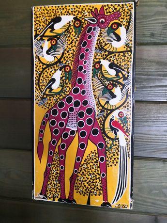 """obraz olejny African Art , Maiko """"Rozpieszczany"""" antyk"""