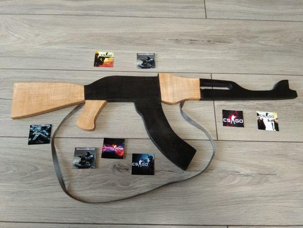Автомат Калашникова макет для тренировок Деревяные игрушки оружие КСГО