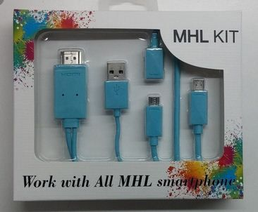KIT MHL Adaptador Ligar Smartphone a TV