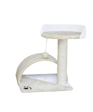 M17041 Drapak dla kota mini drzewko biało-beżowy sizalowy słupek