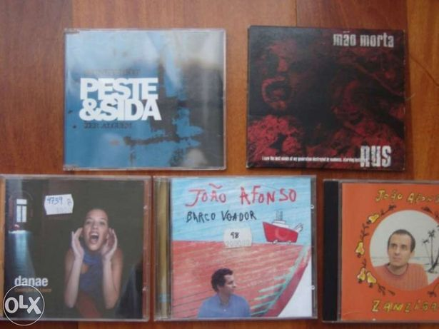 CDs Música Portuguesa (Madredeus, João Afonso, Carlos Bica, Danae)