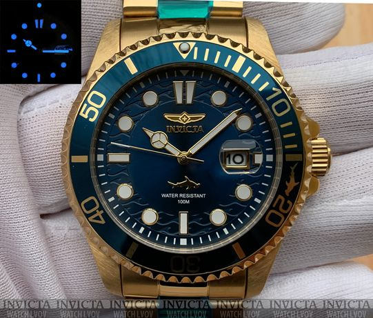 Часы Invicta 30024 Pro Diver 43 mm. Master of the Oceans Blue Gold