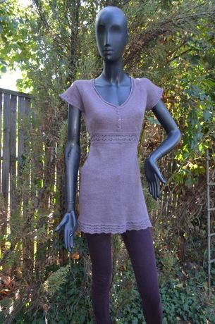 Красивое трикотажное ажурное платье-сарафан