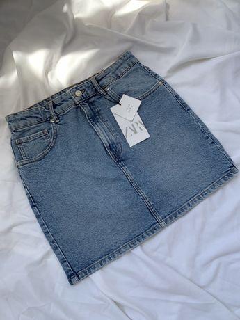 Zara джинсовая мини-юбка