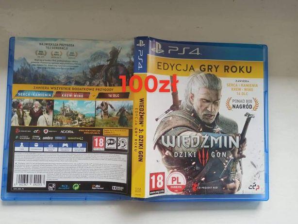 PS4 Wiedźmin dziki gon