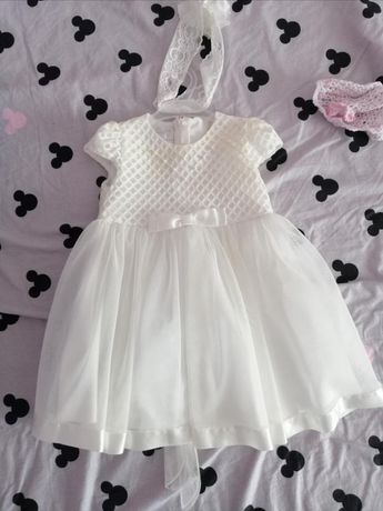 Sukienka do chrztu roczek