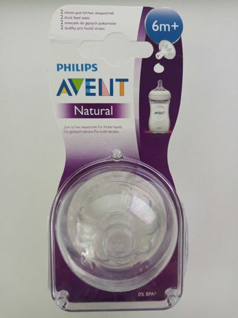 Соска Philips Avent Natural 6м+ для густой пищи 2шт (SCF656/27)