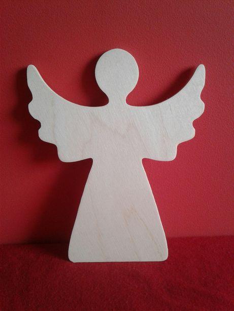 Anioł, aniołek, decoupage, drewno, dekoracja, ozdoba, zawieszka