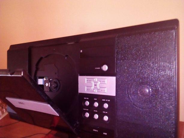 Wieża z DVD, USB, radio AM, AF, odtwarzacz CD, pilot lub Zamiana