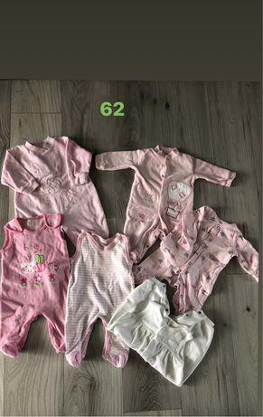 Ubranka dla dziewczynki 62 i 68