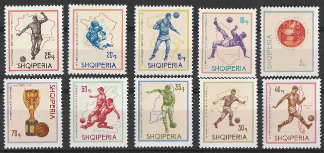 znaczki Albania 1966 - Mistrzostwa Świata w Anglii 1966 - czyste **