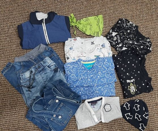 Пакет вещей 74 см ( куртка, джинсы,  комбинезон)