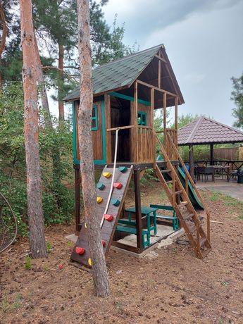 Продам детский игровой комплекс домик горка качели скалодром песочница