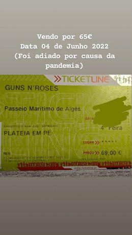 Bilhete de concerto Guns N'Roses