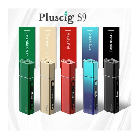 Pluscig S9 - новый аналог IQOS-айкос, LED-дисплей, заряд до 50 стиков