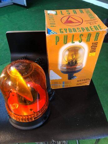 """""""Pirilampo"""" Rotativo de luz laranja com iman e inquebrável"""