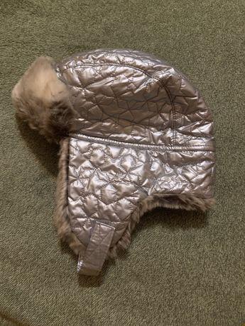 Шапка-ушанка H&M на девочку 4-8 лет, цена 180 грн