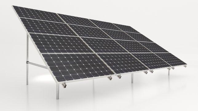 Konstrukcja gruntowa 16szt panele fotowoltaiczne PV gwarancja skręcana
