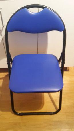Krzesło biurowe używane niebieskie
