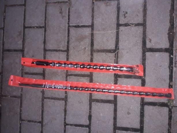 Wiertła do betonu na SDS fi 18 22 różne długości