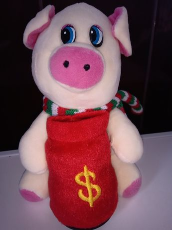 Свинка копилка мягкая игрушка для ребёнка