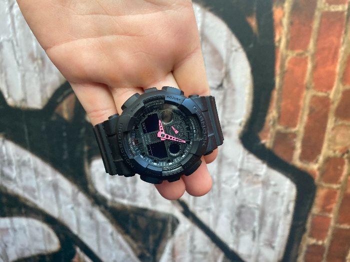 Zegarek g-shock czarny różowy liliowy Jasło - image 1