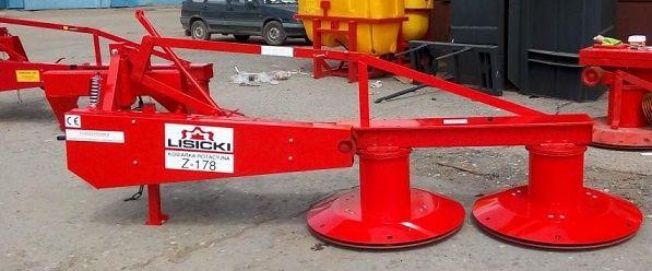 Настоящая польская роторная косилка Лисицки 1,35 м