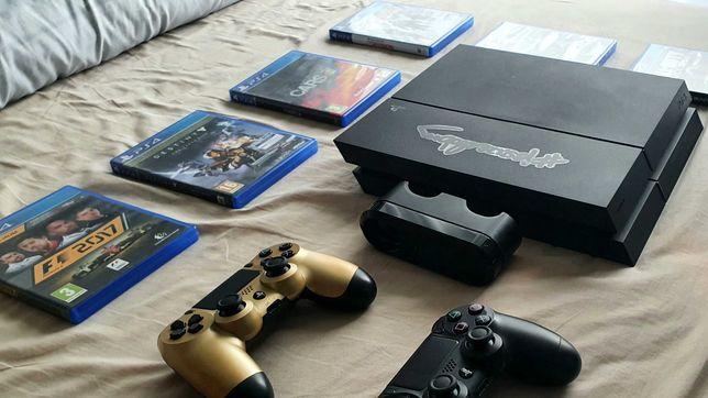 PlayStation 4 - 1 Tb + 2 Pady + Stacja ładująca + 6 gier - PS4