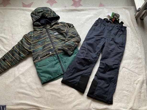 NOWE kurtka spodnie narciarskie +czapka kombinezon LEGO j. Reima r 116