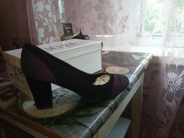 Туфли женские замшевые, р. 38,5