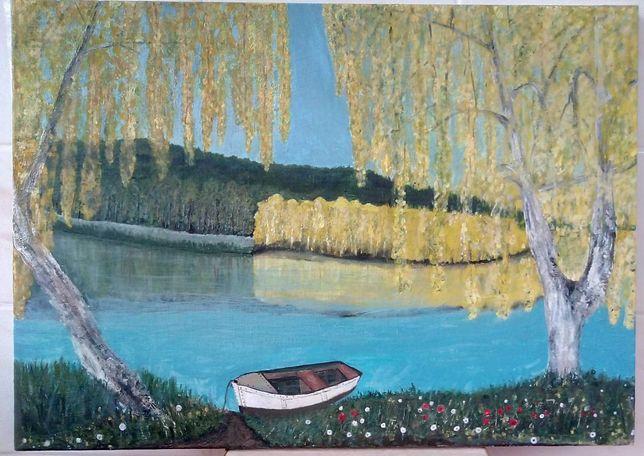 Картина, На березі річки