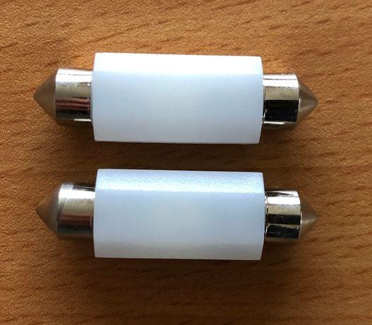Vendo par de leds brancos com Canbus 41mm para carro