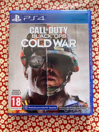 Vendo Call of duty black ops cold war Ps4  Ps5 como novo com selo IGAC
