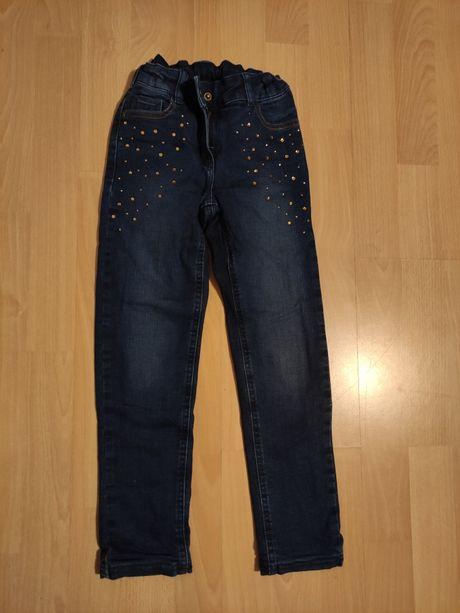 Spodnie ocieplane jeansy dla dziewczynki rozmiar 116
